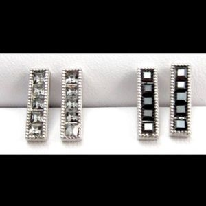 Swarovski Crystal Bar Studs